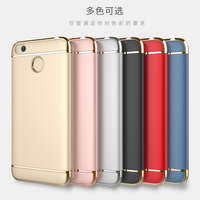 Luxury Hybrid Case For Xiaomi Redmi 4X Hard 3 In 1 Plating Frosted Protective Back Cover