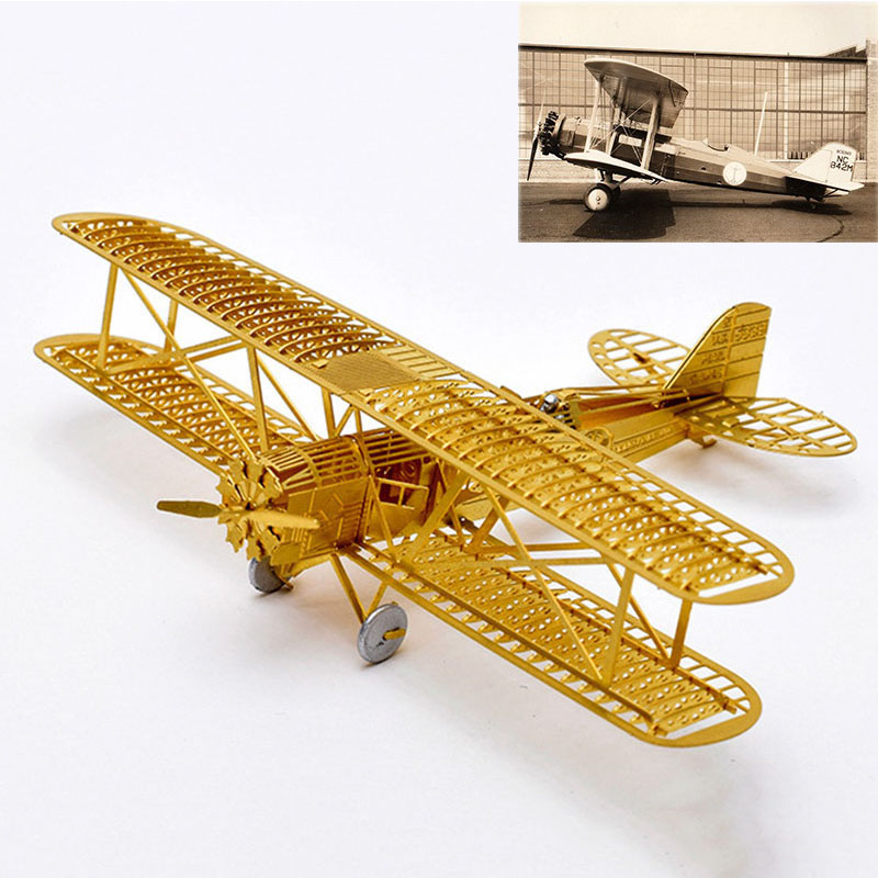 PIP GAMES 3D Metal Puzzle DIY Aircraft Frame Model Boeing 40