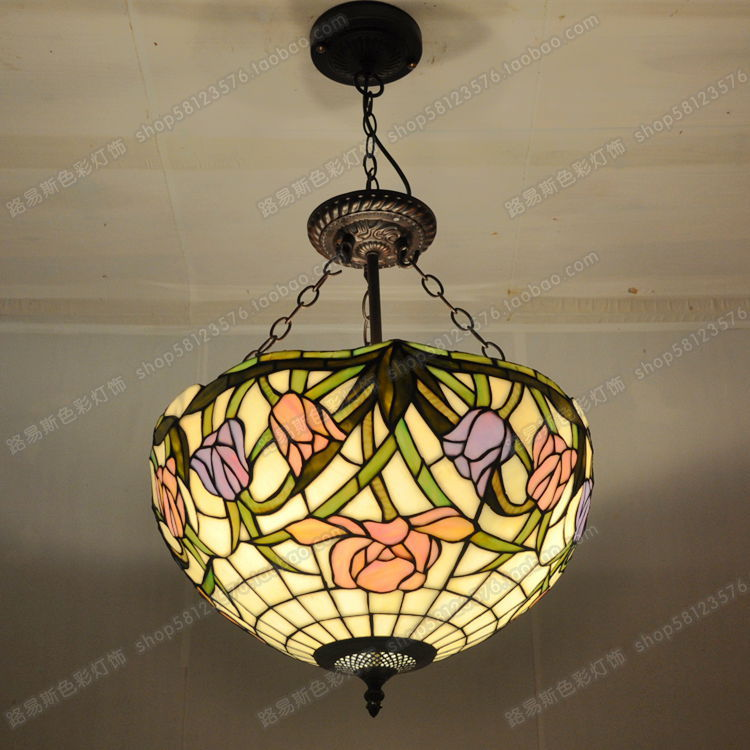 Free shipping 16 inch anti american tulip chandelier tiffany glass free shipping 16 inch anti american tulip chandelier tiffany glass bar dance halls stylish lighting fixtures pastoral europe in pendant lights from lights aloadofball Choice Image