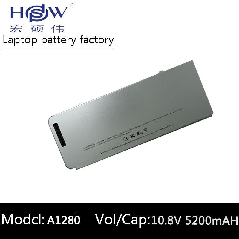 HSW ноутбука Батарея A1280 для Apple MacBook 13 A1278 MB771LL/MB771 MB771J/MB771 */bateria Акку