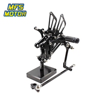 For Yamaha YZF R125 2008 2013 CNC Adjustable Rearsets Motorcycle Accessories Foot Rest Foot Pegs YZF R125 Footrests