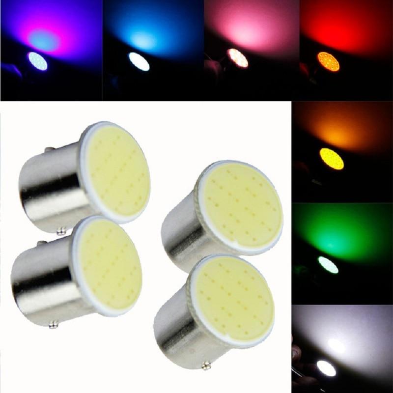2 pcs 1156 P21w BA15S COB LED parking Reverse Backup Light Sourcing super bright car Lamp Bulb DC 12V hot selling