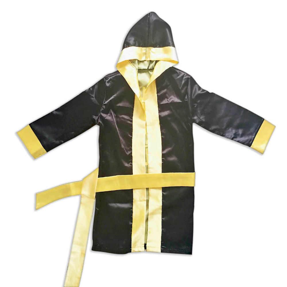6cb128f300 ... Boy Boxing Costume Kids Rocky Balboa Robe Movie Apollo Cosplay American  Flag Pattern Italian stallion ...