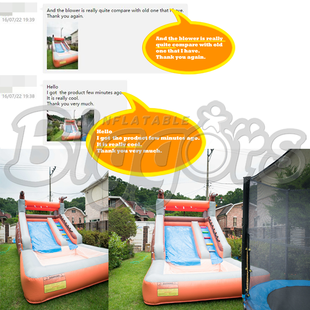 Inflatable water slides\' feedback