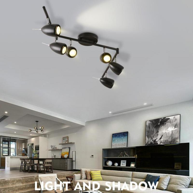 Nordic Background Wall Spotlight Clothing Store Led Track Ceiling Lamp Living  Room Bar Industrial Wind Spotlight Lights In Ceiling Lights From Lights ...