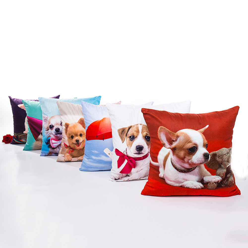 Ouneed Cute Dog Chihuahua Polyester Throw Pillow Case Animal Decorative Pillows For Sofa Seat Cushion Cover 43x453cm Home Decor