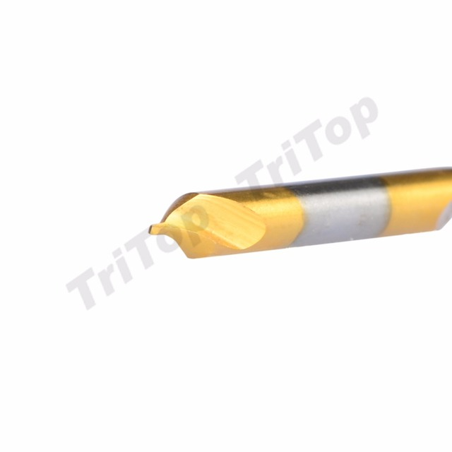 5pcs/lot D1.0*60degree  HSS high quality Containing cobalt golden coating center drill bit shank diameter 4mm 60 free shipping
