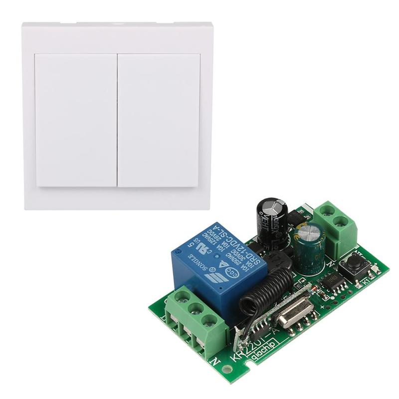 433 MHz Wireless remote control switch 1CH Relay Receiver Module + 433Mhz RF TX Learning Code 1527 Wall Panel Remote Transmitter universal 433 mhz 2 channel remote control learning code 1527 relay receiver module wireless diy garage gate door switch dc 12v