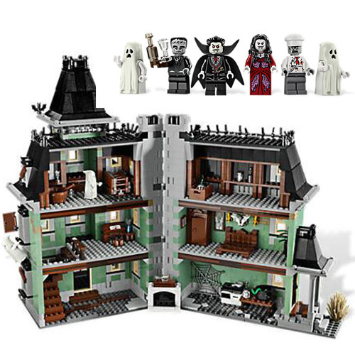 16007 2141pcs Monster Fighter The Haunted Soul House Model Building Block Kits Brick Toy Compatible With 10228 2141pcs the haunted house model set building kits block toy 16007 diy monster fighter educational blocks toys for children