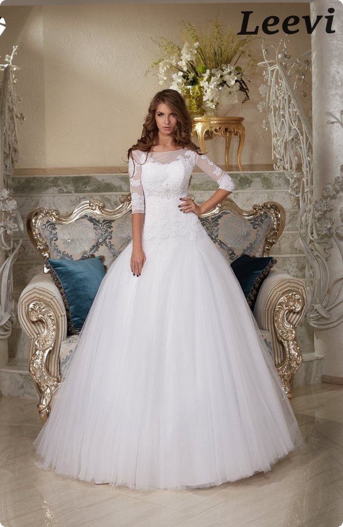 elegante manga larga vestidos de boda pnina tornai vestido de boda