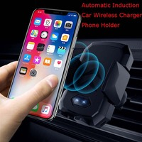 Fast Wireless Charger infrared Automatic Induction Car Mount Air Vent Phone Holder stand Cradle for iPhone 8 X XS MAX Samsung S9