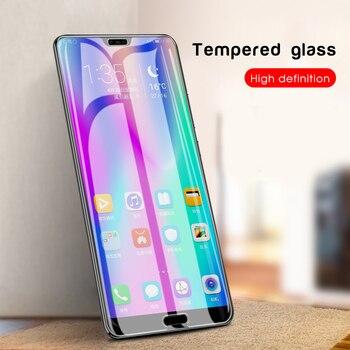 Protector de pantalla para Huawei Honor 8S 8A 8 9 10 Lite 10i 20i V9 Play 8X 8C 7C 7A 6C Pro con borde blanco, elimina la revisión líquida