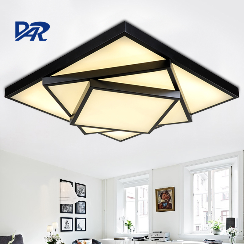 RC Dimming Rectangel Led Ceiling Lamp Modern Ceiling Light For Bedroom Living Room Remote Controlling Indoor Lighting Decorative