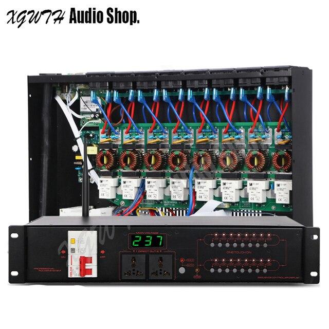 Pro Karaoke Audio System dźwięku DJ 16 kanałowy bezprzewodowy filtr wielofunkcyjny sekwencji mocy zasilania sterownika kontroler rozrządu