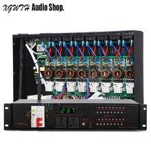 Pro karaoke sistema de som de áudio dj 16 canais wifi filtro multi função controlador de seqüência de energia fonte controlador de sincronismo