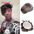 """Wholesale 8A Stocked Mens Toupee Super Thin 6""""X8"""",7""""X9"""",8""""X10"""" base size mono lace and PU replacement 100% real Human hair toupe"""