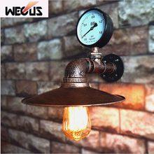 Чердак лампы подражали водопровод E27 настенный светильник лампа спальня ресторан паб кафе-бар проход коридора свет ретро бра бюстгальтер
