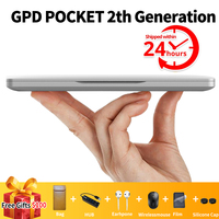 GPD Pocket 2 Pocket2 7 Inch Mini Laptop Computer UMPC Windows 10 System Aluminum Shell CPU M3 7y30 8GB/128GB DHL free shipping