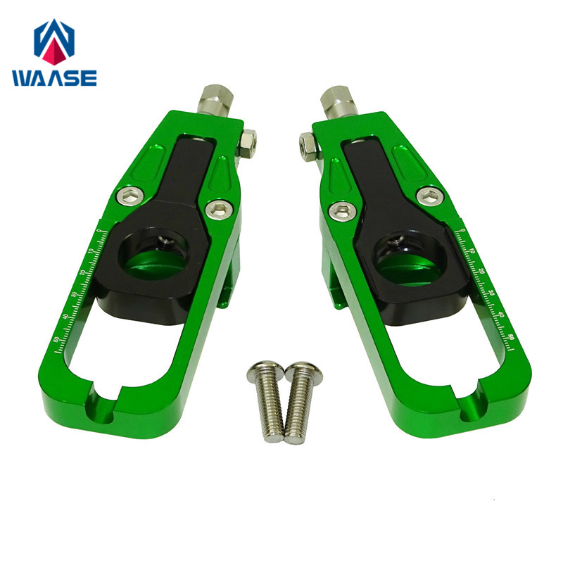 waase For Kawasaki Ninja ZX 6R ZX6R 2005 2006 2007 2008 Chain Adjusters Tensioners Catena