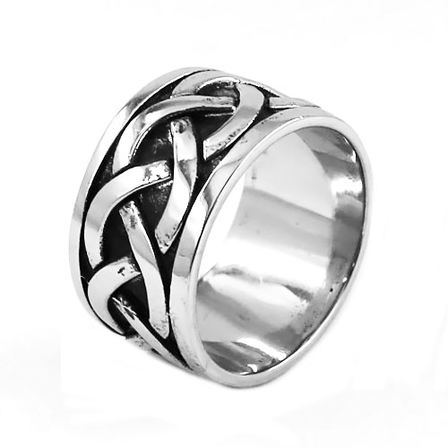 Wholesale Celtic Knot Ring Stainless Steel Jewelry Classic Punk Claddagh Style Fashion Motor Biker Ring Men Women Ring SWR0543