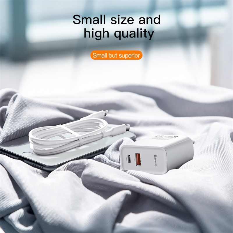 Baseus Sạc Nhanh Quick Charge 4.0 Sạc USB Cho iPhone 11 Pro Max Xiaomi Samsung Huawei QC4.0 QC3.0 PD Nhanh Tường Di Động sạc Điện Thoại