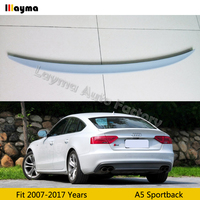 S5 style Fiber glass rear trunk spoiler For Audi A5 Sportback 2007 2017 years Car spoiler Wing (Not fit Sline s5 rs5)