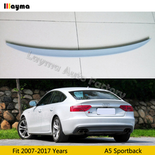 цена на S5 style Fiber glass rear trunk spoiler For Audi A5 Sportback 2007-2017 years Car spoiler Wing (Not fit Sline s5 rs5)