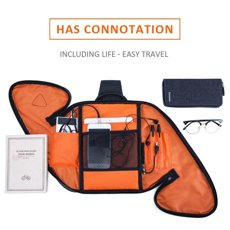 FENRUIEN Anti-Stöld Crossbody Bag Casual Men Bröstväska Vattentät - Handväskor - Foto 4