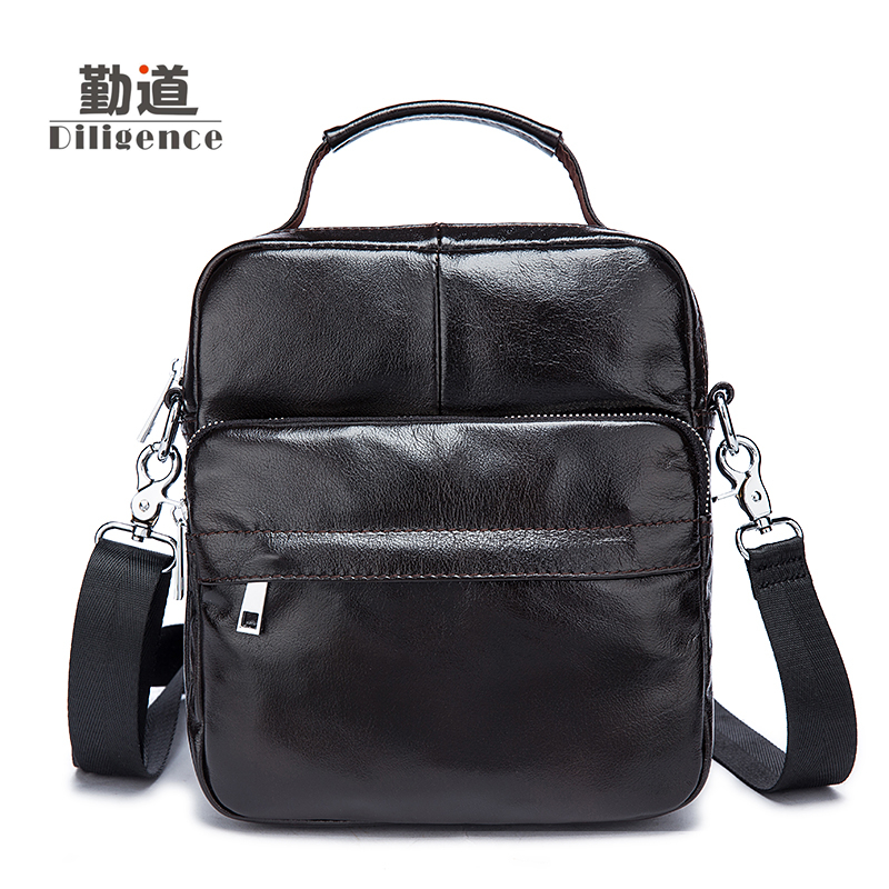 Mens Genuine Leather Handbags Vintage Fashion Shoulder Bags New Style Totes Clutch Strap Cossbody Bags Hot Sale Cowhide Bags