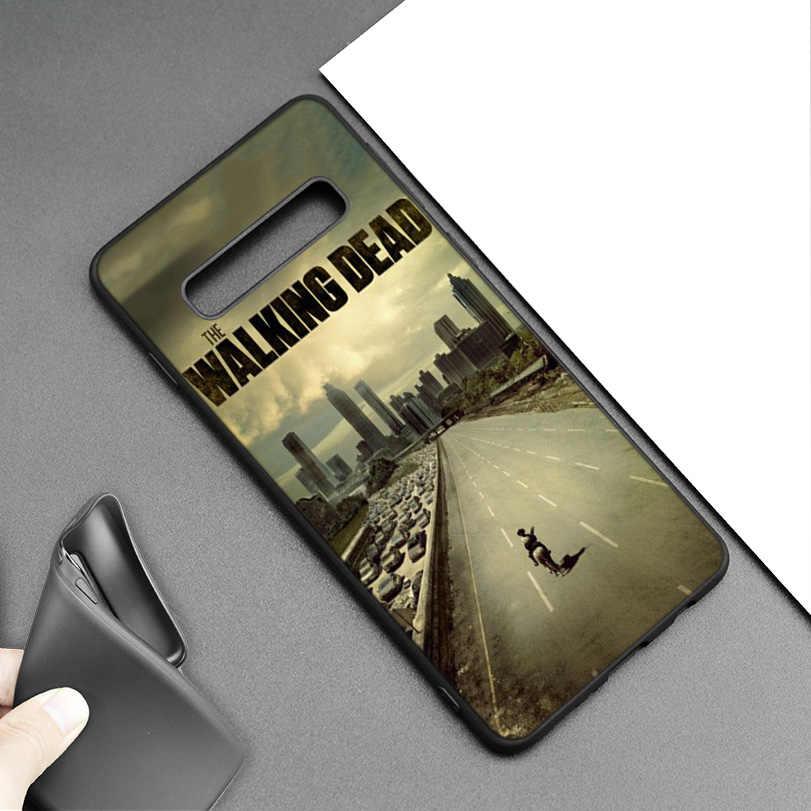 The Walking Dead Preto Capa de Silicone para Samsung Galaxy M20 S10e S10 S9 M10 S8 Plus 5G S7 S6 borda Da Tampa Coque