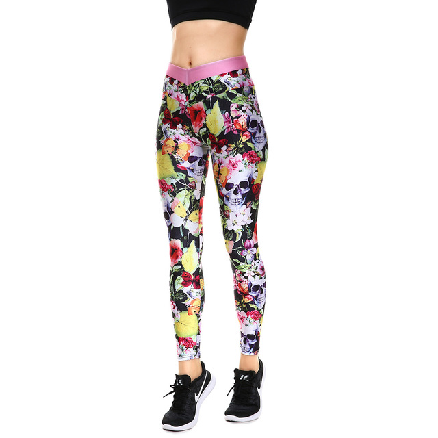 b7c2851014349d Winter Hot Sale Halloween Yellow Leaves Women's Yoga Leggings Tight Pants  Workout Pants Exercise Running Fitness