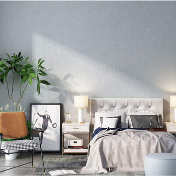 Plain Solid Color Gray Linen Japanese Wallpaper Modern Minimalist Bedroom Living Room Dining Room Nordic Style Wallpaper Ins