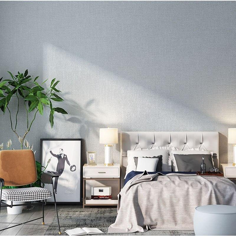 Uni couleur unie gris lin japonais papier peint moderne minimaliste chambre salon salle à manger Style nordique papier peint Ins