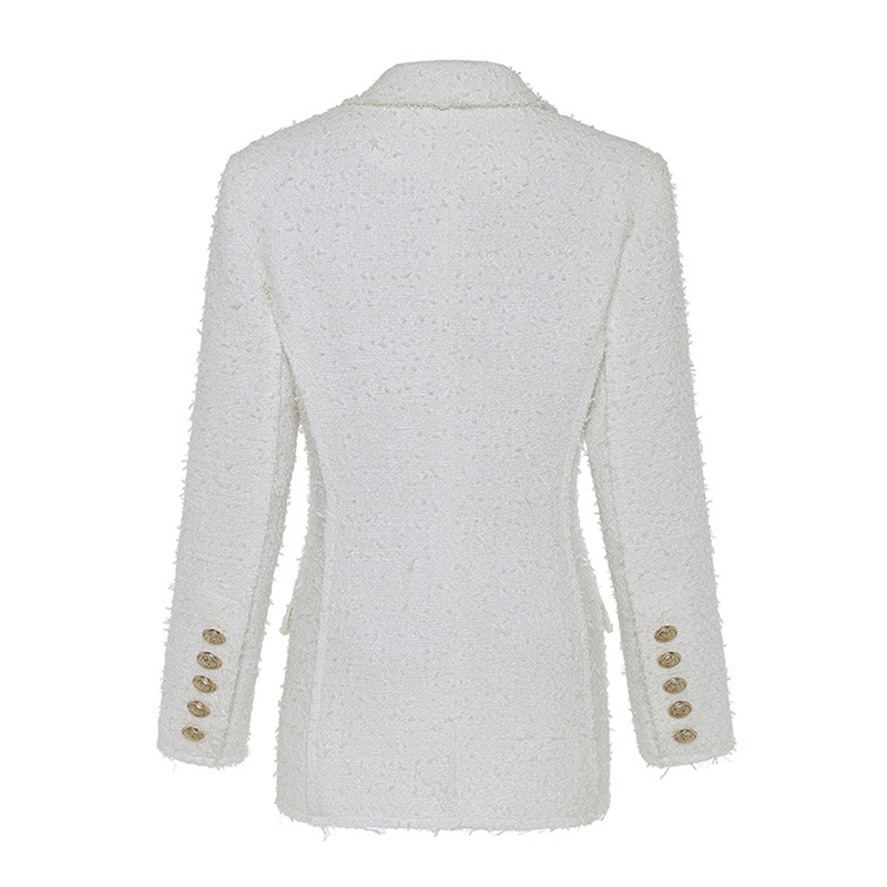 2019 Autumn And Winter Women's Jacket Metal Lion Head Buckle Double-Breasted  Suit Fashion Office Lady Commuter Casual Suit B149
