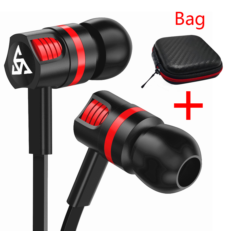 Musttrue Professional Earphone Super Bass Headset with Microphone Stereo Earbuds