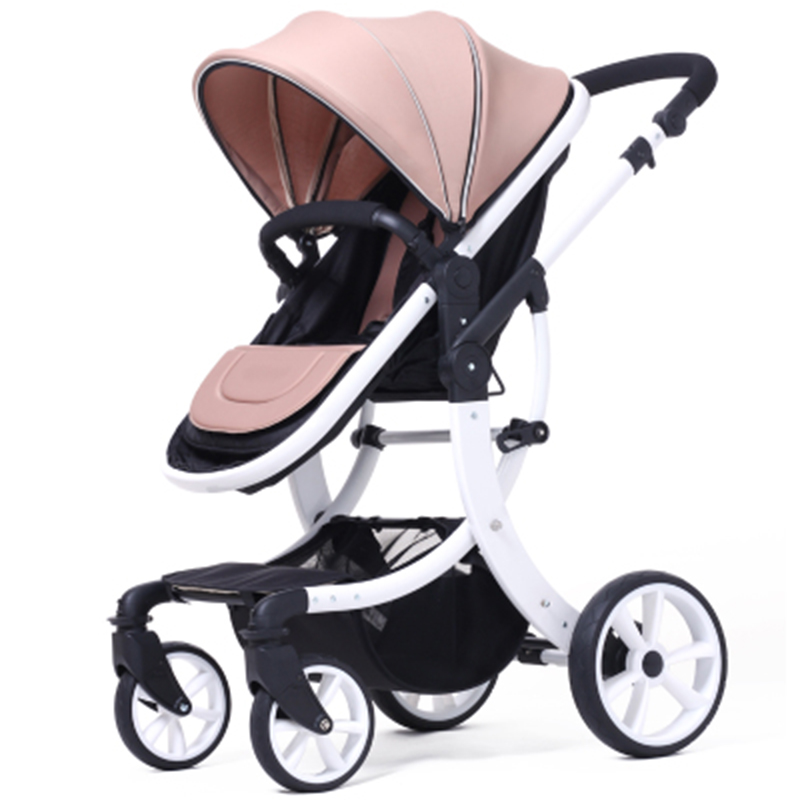 Hot Russian winter and summer high-profile baby stroller can sit four seasons two-way folding folding shock bb cart child pram the baby stroller of the aimile can sit on a bb cart in the four seasons of high landscape folding