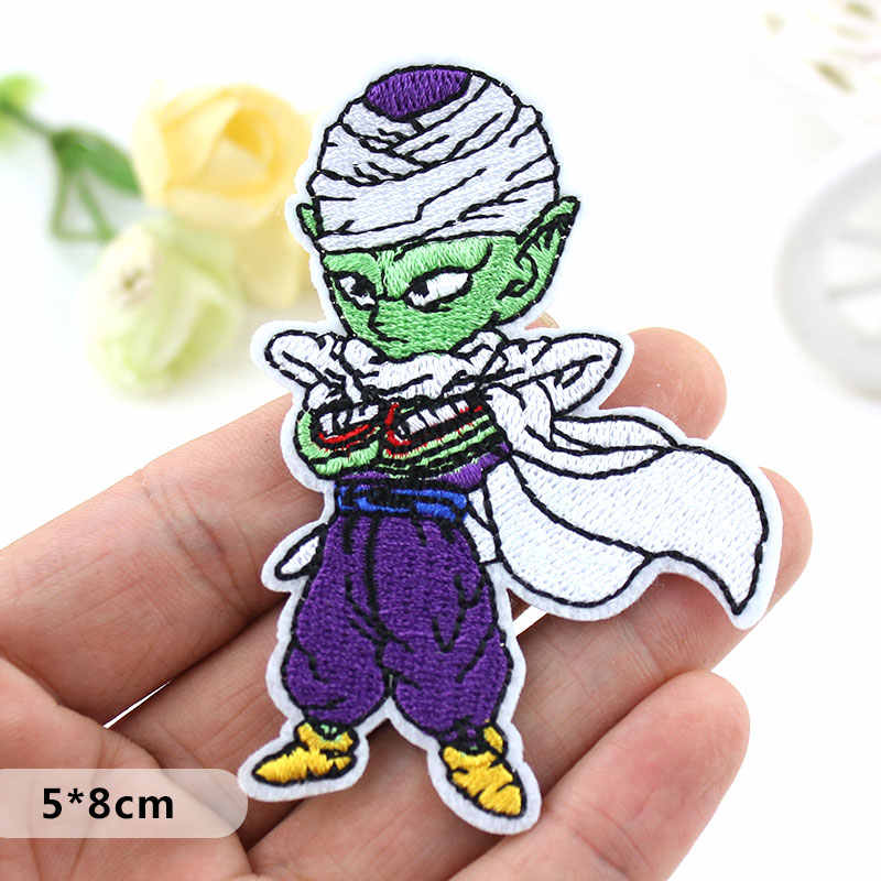 Dragon Ball Goku Anime Embroidered patch clothes Iron patches For clothing Kids DIY Badges Stickers Appliques wholesale