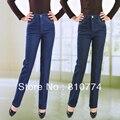 2017 высокое качество весной мать брюки женские джинсы высокие упругие талии плюс размер тонкие женские брюки