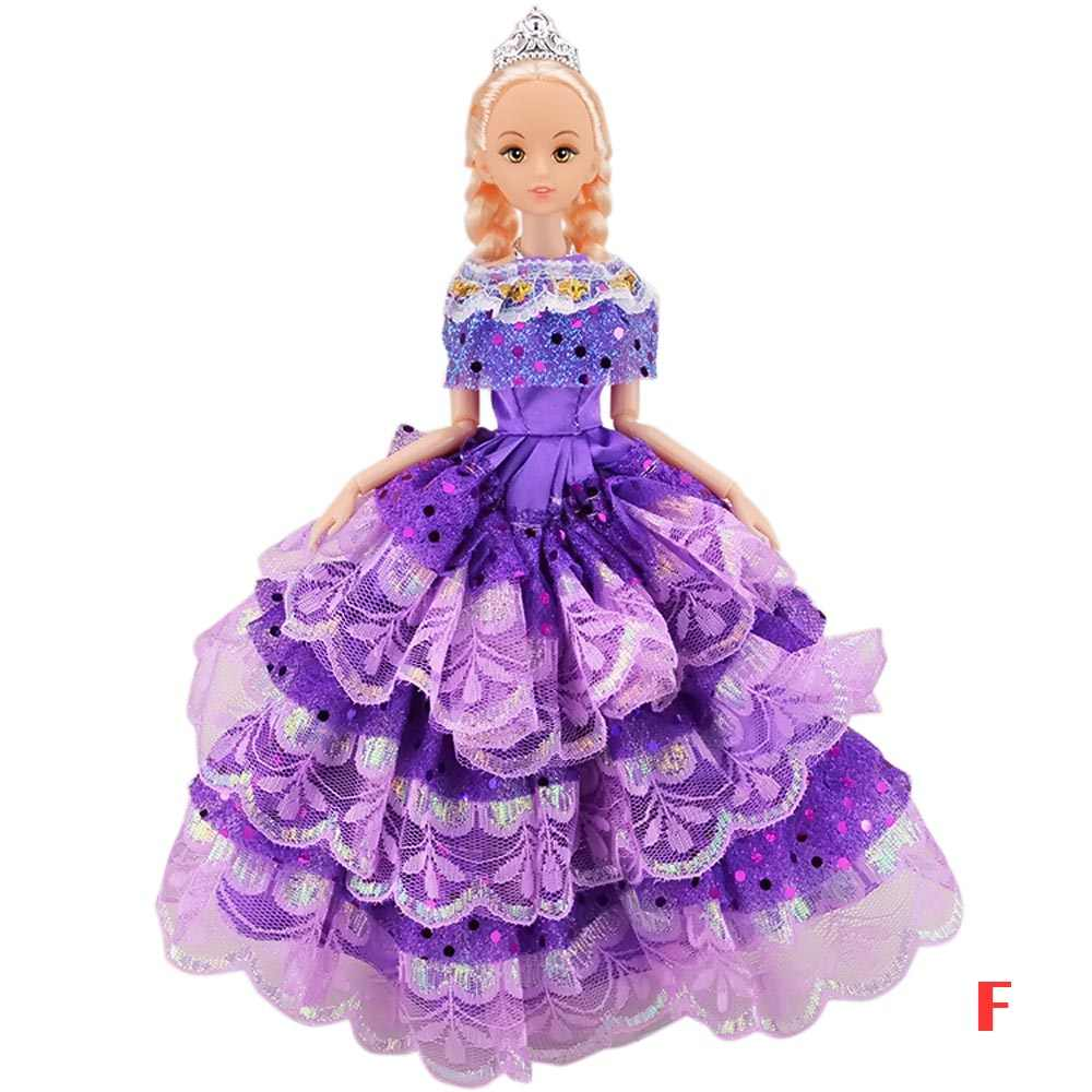 cb5e12f4e8e77 Girl Dolls Toys Satin Wedding Princess Party Dresses Gown Suit Outfits Doll  Accessories for Barbie Toys Kids Girls Birthday Gift