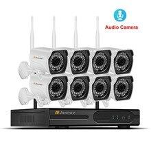 8CH CCTV Системы Беспроводной 960 P NVR с 1.3MP открытый Водонепроницаемый аудио запись Wi-Fi безопасности Камера Системы Vedio наблюдения комплект