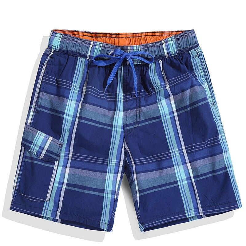 GustOmerD 2018 Shorts Men Summer Beach Board Shorts Fashion Plaid Trousers High Quality Elastic Mens Casual Fast Dry Shorts