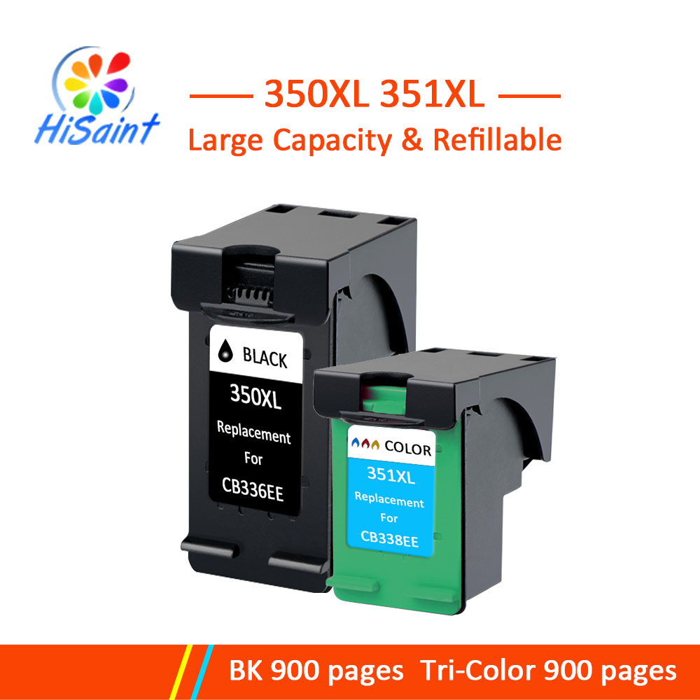Hisaint Compatible for <font><b>HP</b></font> 350 <font><b>351</b></font> Ink <font><b>Cartridge</b></font> For <font><b>HP</b></font> Deskjet D4260 Officejet J5700/ J5780 Ink Jet Printer Real Hot Sale image