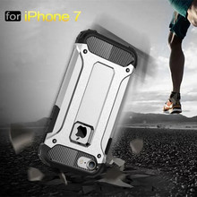 High Quality Hybrid Durable Armor Case For iPhone7 iPhone 7 Plus Silicone + PC Shockproof Hard Rugged Phone Cases Cover Back