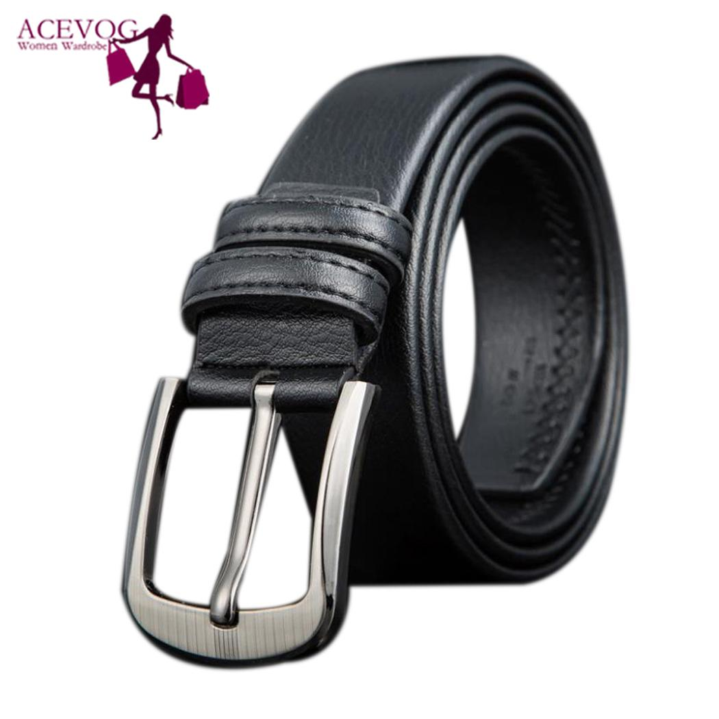 Men Waist Belt Casual Solid Adjustable Leather Waist Belt Suitable for both adult with Pin Buckle