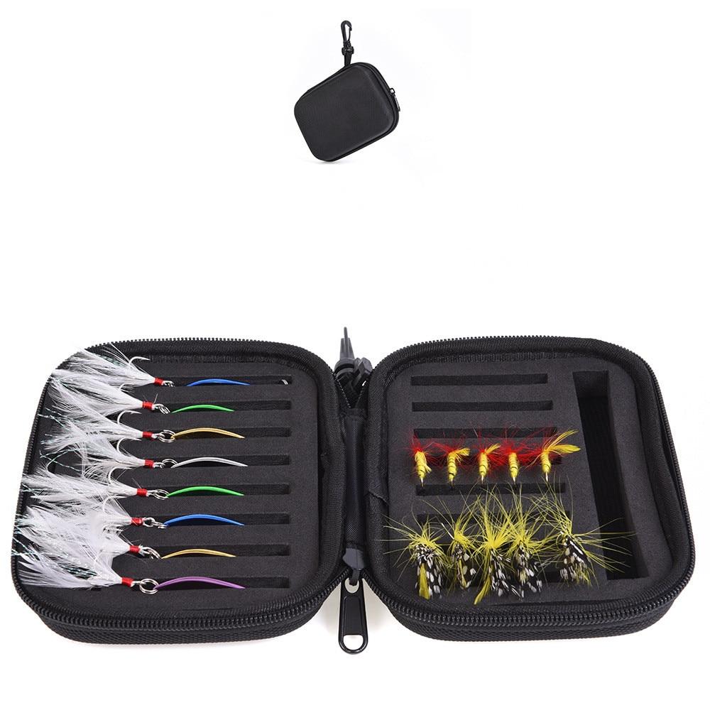 16 Grooves Nylon Storage Case Box Black Fishing Lure Square Fishhook Spoon Hook Bait Tackle Carp Accessory