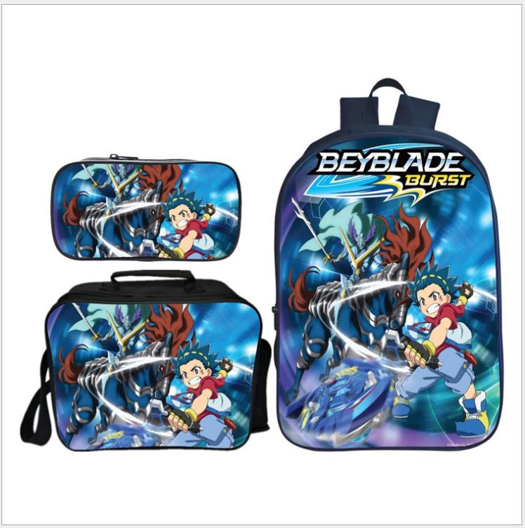 3Pcs Set Boys Backpack BEYBLADE BURST School Bags For Students Best Gifts Children Cartoon School Bags Mochila Escolar