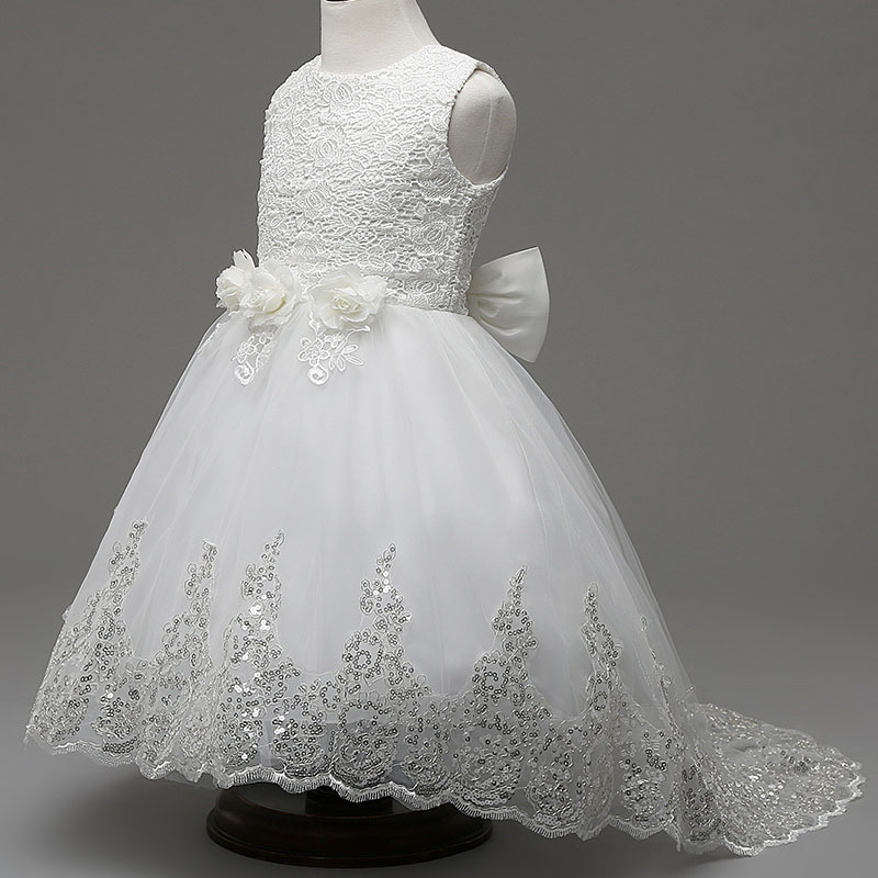 new Girls sleeveless Princess white Party Dress bow Lace wedding dress girl long blue dress sitemap 286 xml