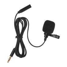 Mini Clip on de Lapela Lapela Microfone Condensador Mic com 3.5 milímetros Saída de Fone de ouvido para Celular Câmera DSLR Computador PC laptop