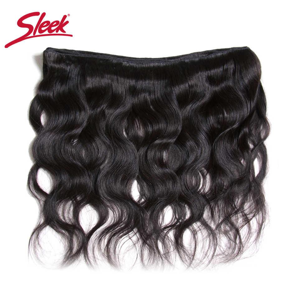 Sleek бразильские волосы категории virgin Комплект s 8 до 28 30 дюймов бразильские волнистые волосы для наращивания волос человеческие волосы Remy для наращивания, 1/3/4 Комплект предложения Бесплатная доставка