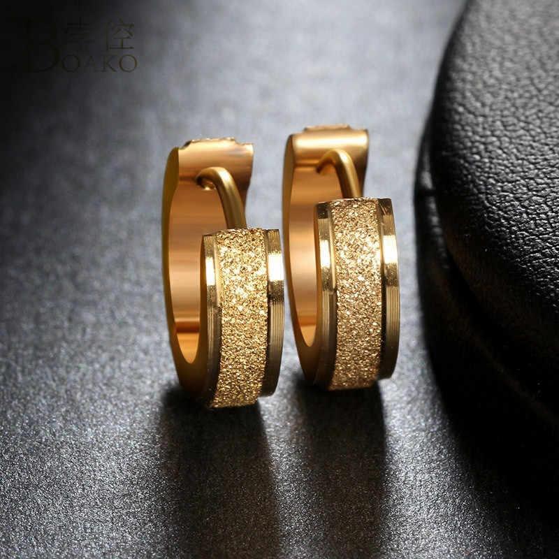 BOAKO ขนาดเล็ก Hoop ต่างหูทองเงินสแตนเลสสตีล Huggies ต่างหูผู้หญิงผู้ชายแหวนหูคลิปรอบวงกลมต่างหู brincos